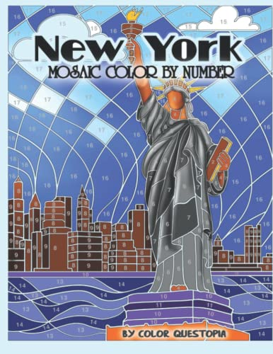 New York Mosaic Color By Number: Coloring Book for Adults (Fun Adult Color By Number Coloring, Band 5) von Independently published