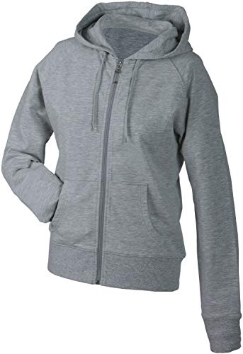 James & Nicholson Damen Sweatshirt Hooded, Grau (grey-heather), XXL, JN554 grehe von James & Nicholson