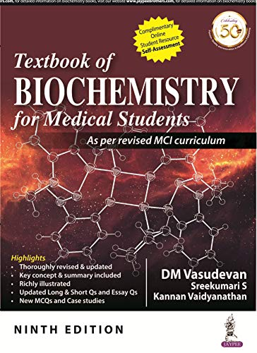 Textbook of Biochemistry for Medical Students von Jaypee Brothers Medical Publishers Pvt Ltd