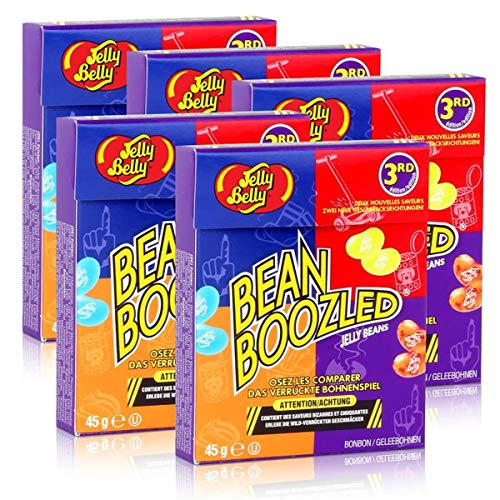 5x Jelly Belly Bean Boozled Jelly Beans Flip Top Box 45g von Jelly Belly