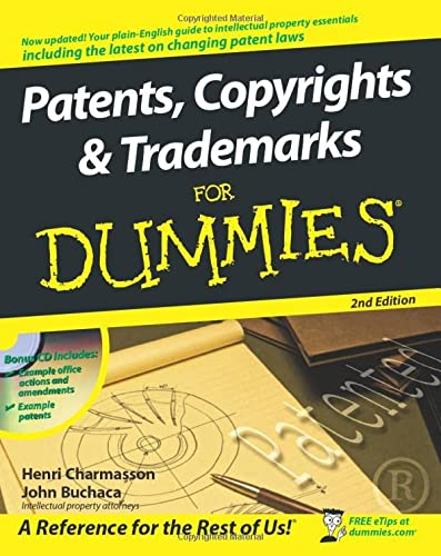 Patents, Copyrights and Trademarks for Dummies [With CDROM] (For Dummies Series) von FOR DUMMIES