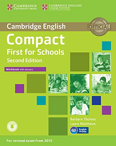 Compact First for Schools: Second edition. Workbook with answers with downloadable audio von Klett Sprachen