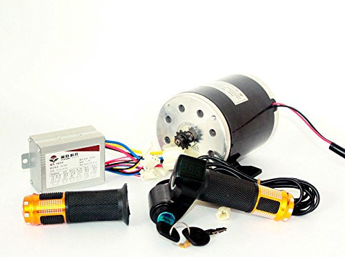 24V36V48V 500W Elektromotor Brushed DC-Motor Kit Elektro Scooter Motor MY1020 UNITE Motor Electric Scooter Conversion Kit E-Bike-Motor-Kit (36V500W) von L-faster