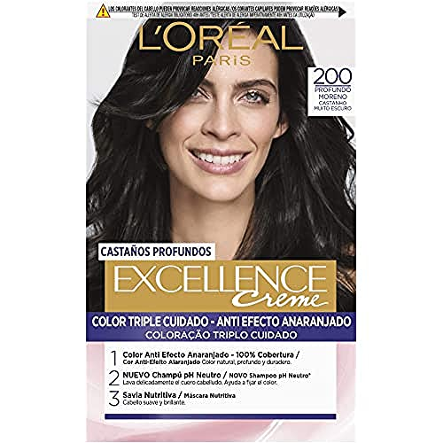 excellence brunette tinte 200 true darkest brown von L'oreal Expert Professionnel