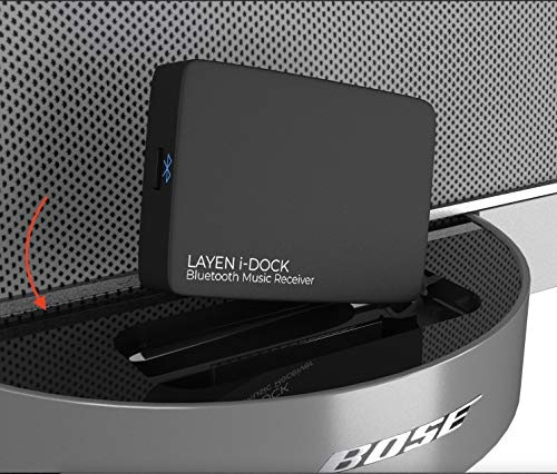 [ Verbesserte Version ] Layen i- DOCK Bluetooth 4.1 Audio Receiver mit Multi - Pair ! aptX = Superior- Ton ! Musik kabellos von jedem Bluetooth-fähigen Gerät ( Smartphone, Tablet , etc.) zu Ihrem Dock / Stereo - (nicht geeignet für Autos ) von LAYEN