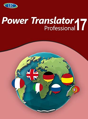 Power Translator 17 Professional - Übersetzungen in 8 Weltsprachen! Windows 10|8|7 [Online Code] von LEC