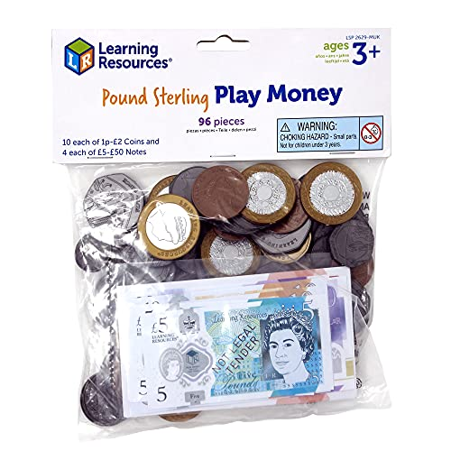 Learning Resources LSP2629-MUK Spielgeld Großbritannien von Learning Resources