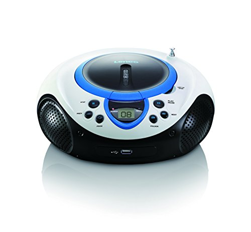 Lenco SCD-38 - Boombox - Tragbar - CD Player - USB - Blau von Lenco