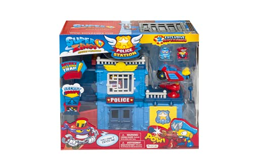 MagicBox PSZSP112IN01 Police Station Spielset, Mehrfarbig von SuperZings