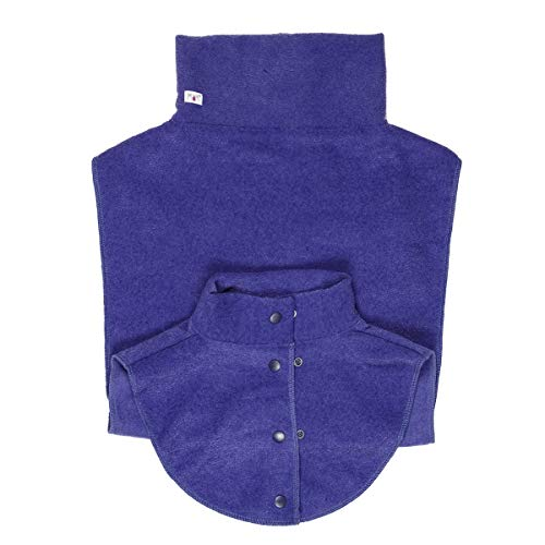 manduca by MaM Babywearing Double Dickey (Fleece Loopschal) > Dark Iris < Schlauchschal/Trageschal für Mama und Baby, speziell entwickelt für Babytragen/Tragejacken, leichter Boucle Fleece, lila von Manduca
