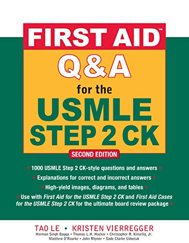 First Aid Q&A for the USMLE Step 2 CK (First Aid USMLE) von Mcgraw-Hill Professional