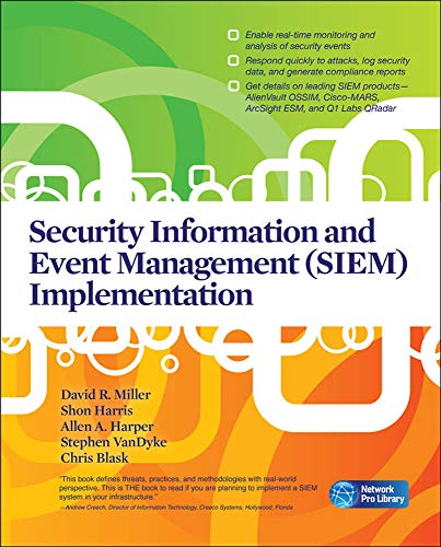 Security Information and Event Management (Siem) Implementation (Network Pro Library) von Mcgraw-Hill Professional; Mcgraw-Hill Osborne