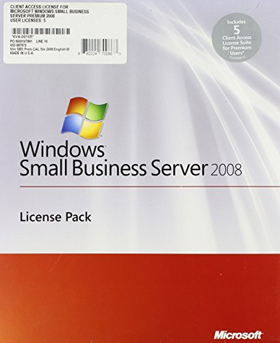 Microsoft Win SBS Prem CAL Ste 2008 English MLP 5 Clt AddPak User CAL [Import] von Microsoft