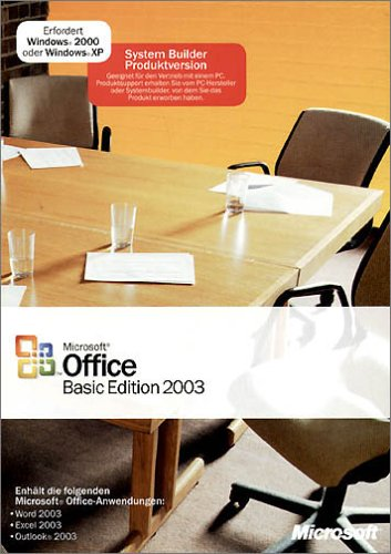 SB/MS Office Basic Edition 2003 + SP1 CD 1pk NON OSB, incl. Word, Excel, Outlook von Microsoft