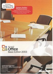 SB/MS Office Basic Edition 2003 + SP2 CD 1pk NON OSB, incl. Word, Excel, Outlook von Microsoft