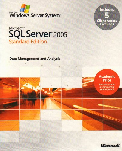 SQL Server 2005 Standard Edition - English (5 Client Licences) von Microsoft