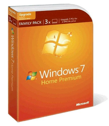 Windows 7 Home Premium Upgrade Family Pack (3 Lizenzen) von Microsoft