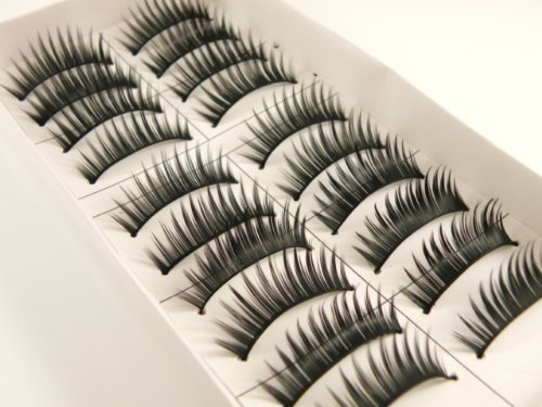 10 Pairs False Lashes Eyelashes Black by Mojo von fat-catz-copy-catz®
