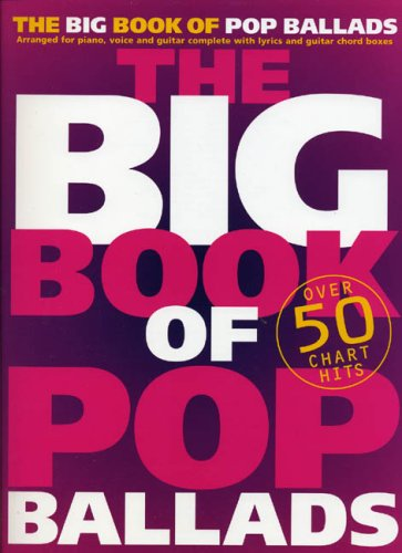 The Big Book Of Pop Ballads (PVG): Songbook für Gesang, Klavier (Gitarre): Arranged for Piano, Voice and Guitar Complete with Lyrics and Guitar Chord Boxes von Music Sales Limited