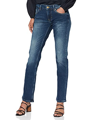 MUSTANG Damen Straight Leg Jeans Sissy, Gr. W28/L34, Blau (dark scratched used 582) von Mustang