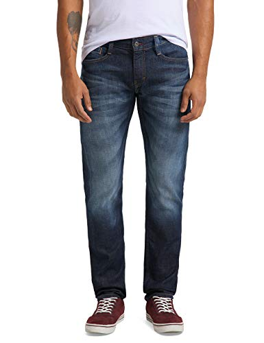 MUSTANG Herren Fit Jeans Oregon Tapered, Blau (Dark Rinse Used 593), W38/L32 von Mustang