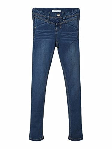 NAME IT Mädchen nitSUS INDIGO K SKINNY DNM PANT NOOS Jeanshose, Blau (Dark Blue Denim), 98 von NAME IT