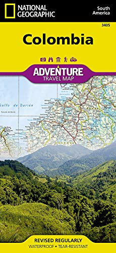 Colombia: Travel Maps International Adventure Map (National Geographic Adventure Travel Map South American, Band 3405) von National Geographic Maps