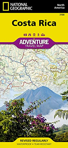 Costa Rica: Travel Maps International Adventure Map: NG.AM3100 (National Geographic Adventure Map, Band 3100) von National Geographic Maps