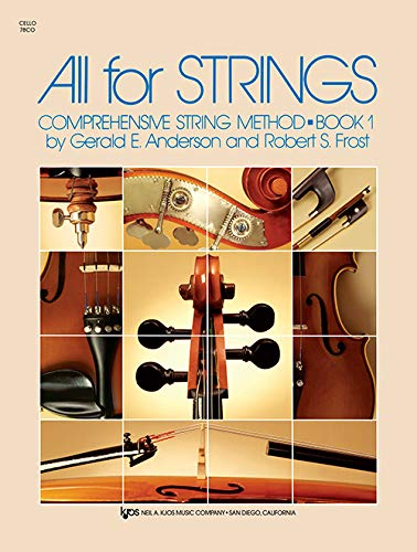 All For Strings Book 1 -Cello-: Noten, Sammelband, Lehrmaterial für Cello von Neil A. Kjos Music Company