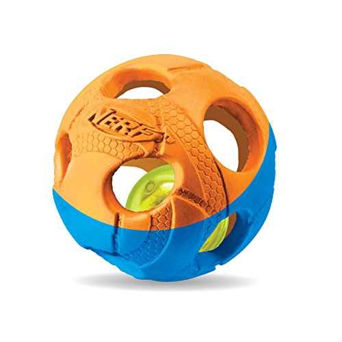 Nerf Dog VP6787E LED Ball, zweifarbig orange/blau, M von Nerf Dog