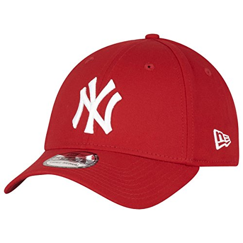 New Era Herren Baseball Cap Mütze M/LB Basic NY Yankees 39Thirty Stretch Back, Scarlet/White, S/M, 10298276 von New Era