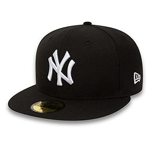 New York Yankees Cappy 59FIFTY MLB BASIC schwarz, 7 1/2 von New Era