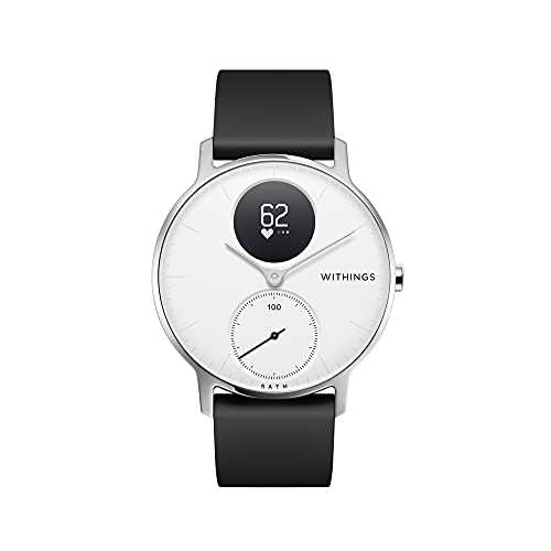 Withings Unisex Adult Steel HR-Fitnessuhr Armbanduhr, White, 36mm, 36 mm von Withings