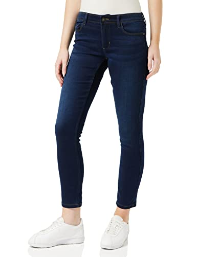 ONLY Damen Skinny Jeans 15077791/SKINNY SOFT ULTIMATE 201, Blau (Dark Blue Denim), Gr. L/L32 (L) von ONLY