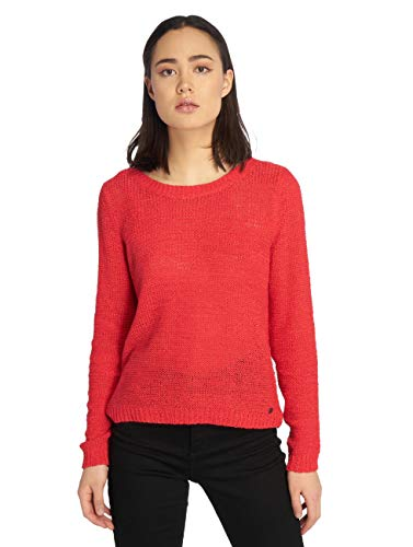 ONLY Damen Pullover onlGEENA XO L/S KNT NOOS, Rot High Risk Red, 42 (Herstellergröße: XL) von ONLY