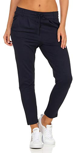 ONLY Damen onlPOPTRASH EASY COLOUR PANT PNT NOOS Hose, Blau (Night Sky), 42/L32 (Herstellergröße: XL) von ONLY