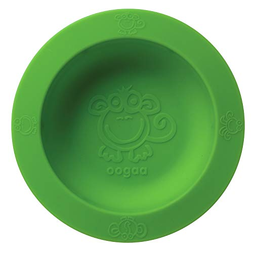oogaa Baby Feeding Silicone Bowl - Easy Clean, Baby Safe - Tasteless - Green by oogaa von Oogaa