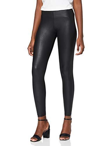 PIECES Damen Skinny Legging NEW SHINY LEGGINGS NOOS, Gr. 38 (Herstellergröße: M/L), Schwarz(Black) von PIECES
