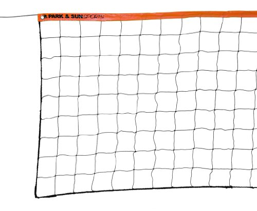 Park & Sun Sports Recreational-Verordnung Größe Volleyball Net mit Stahlkabel Top, Orange von Park & Sun Sports