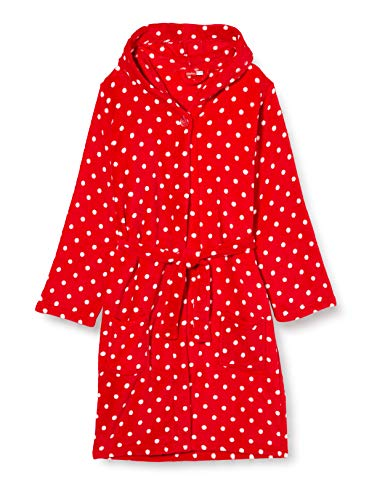 Playshoes Mädchen Bademantel Fleece Punkte, Rot (original 900), 86/92 von Playshoes