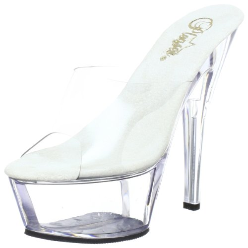 Pleaser KISS-201 Damen Sandalen, Transparent (Clr/clr), EU 37 (UK 4) (US 7) von Pleaser