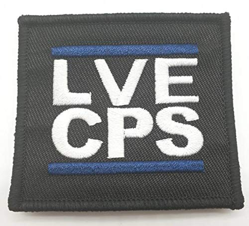 Polizeimemesshop LVECPS Blue Edition Textil Patch von Polizeimemesshop