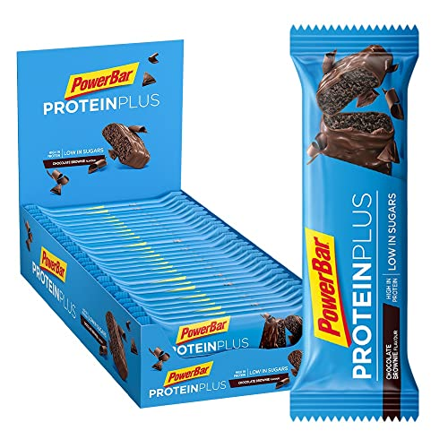 PowerBar Protein Plus Low Sugar, Chocolate-Brownie, 1 x 30 Stück (30 x 35g) von Powerbar