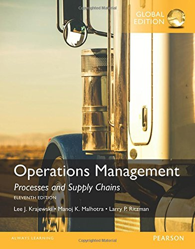 Operations Management: Processes and Supply Chains von Prentice Hall