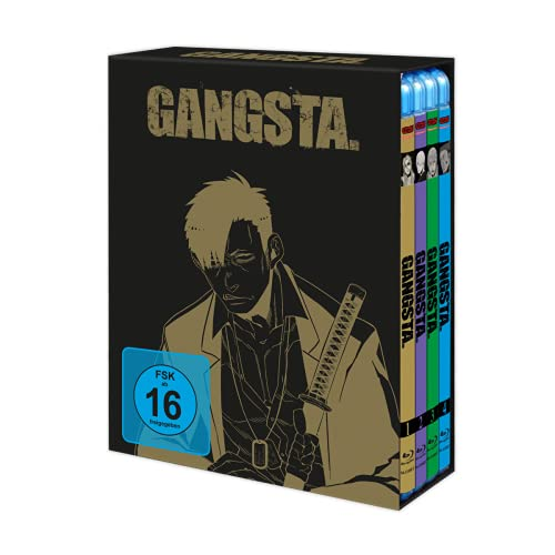 Gangsta - Vol. 1-4 Komplett-Set inkl. Sammelschuber - Blu-ray-Edition