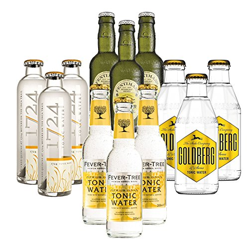 Tonic Water Set: 1724 + Fever-Tree + Fentimans + Goldberg (12x0,2l)