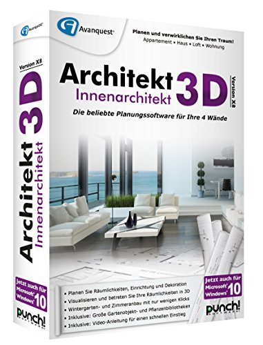 Architekt 3D X8 Innenarchitekt von Punch/Avanquest