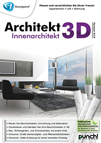 Architekt 3D X7.5 Innenarchitekt [PC Download] von Punch!