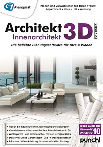 Architekt 3D X8 Innenarchitekt [PC Download] von Punch!