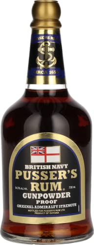 Pusser's British Navy Rum Black Label Gunpowder Proof (1 x 0.7 l) von Pusser's Rum
